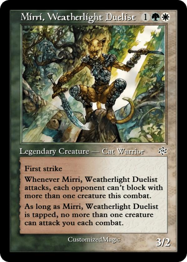 Mirri Weatherlight Duelist 3 - Magic the Gathering Proxy Cards