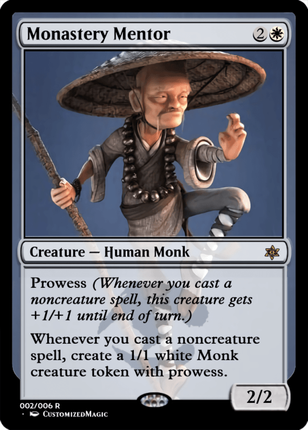 Monastery Mentor.2 - Magic the Gathering Proxy Cards
