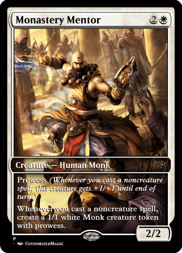 Monastery Mentor.4 - Magic the Gathering Proxy Cards