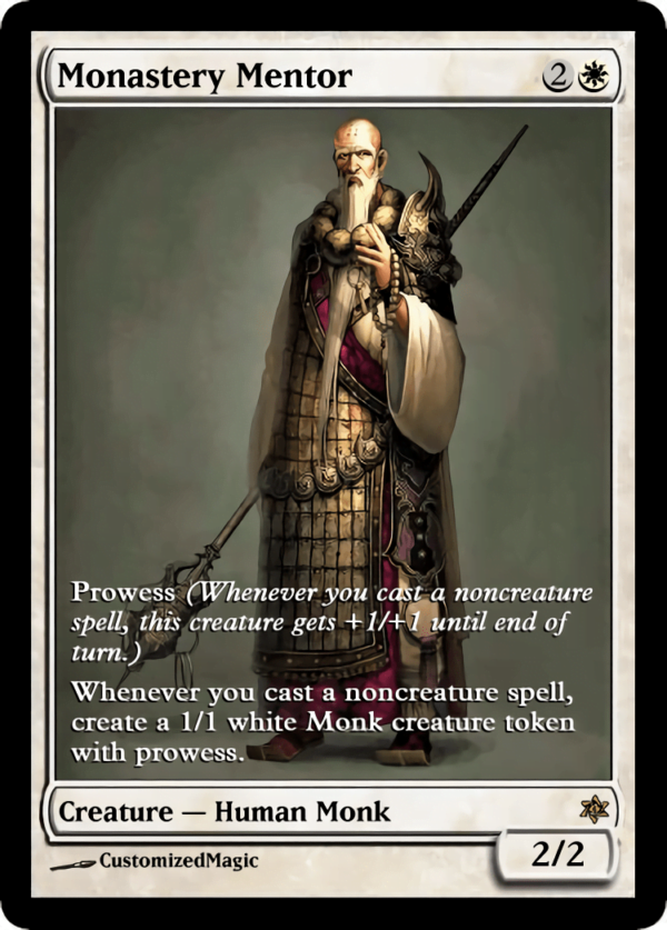 Monastery Mentor.7 - Magic the Gathering Proxy Cards