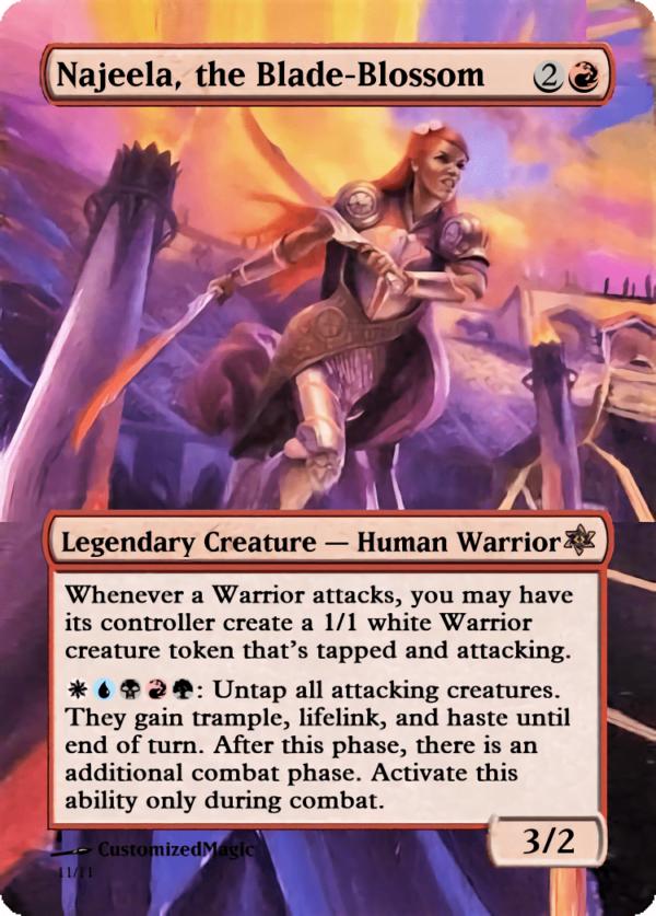 Najeela the Blade - Magic the Gathering Proxy Cards