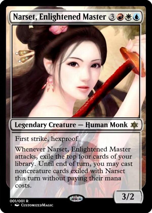 Narset Enlightened Master - Magic the Gathering Proxy Cards