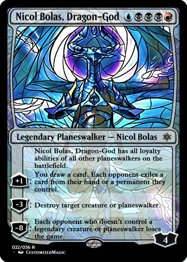 Nicol Bolas Dragon God 1 - Magic the Gathering Proxy Cards