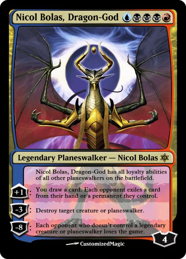 Nicol Bolas Dragon God - Magic the Gathering Proxy Cards