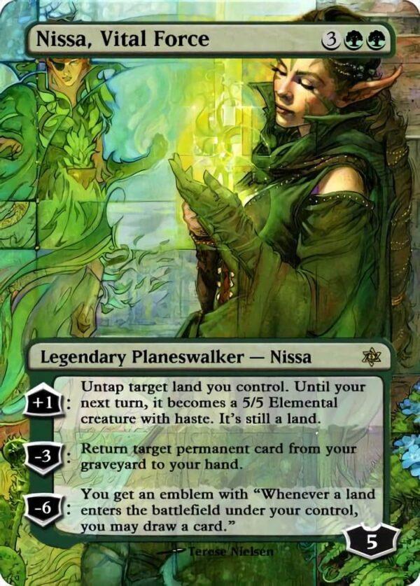 Nissa Vital Force - Magic the Gathering Proxy Cards