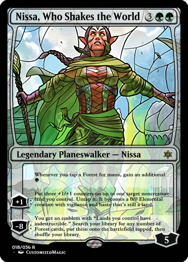 Nissa Who Shakes the World 1 - Magic the Gathering Proxy Cards