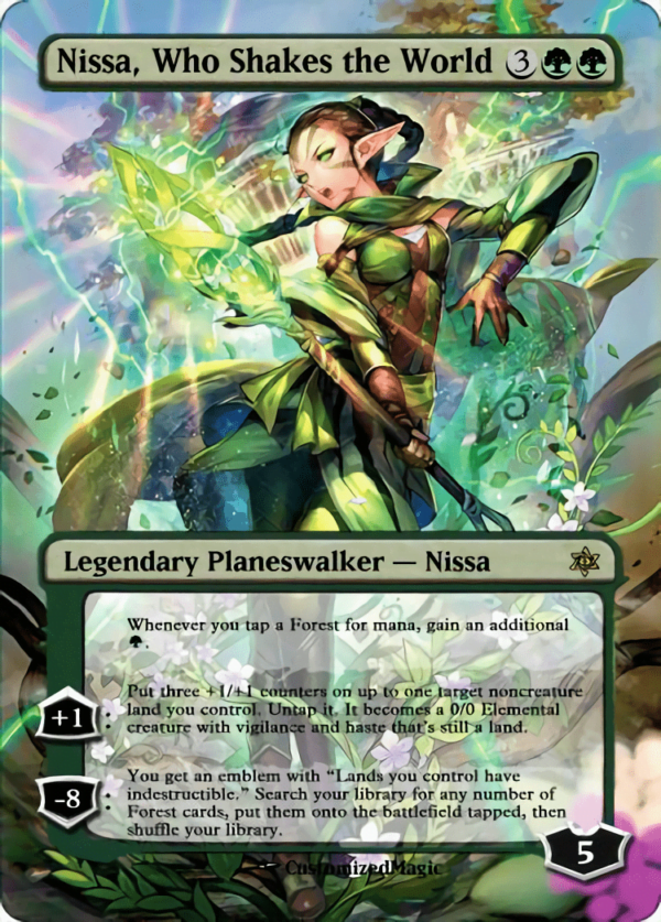 Nissa Who Shakes the World - Magic the Gathering Proxy Cards