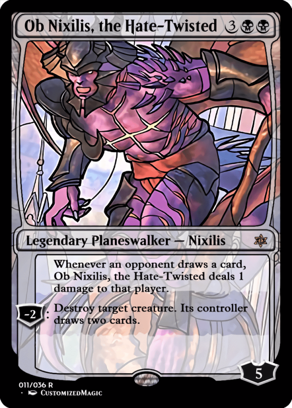 Ob Nixilis the Hate Twisted 1 - Magic the Gathering Proxy Cards