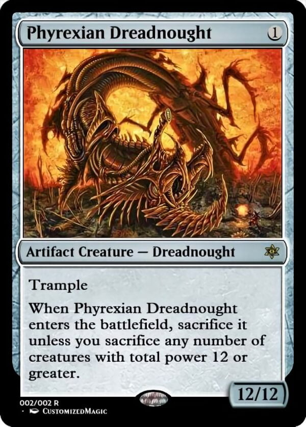 Phyrexian Dreadnought 3 - Magic the Gathering Proxy Cards