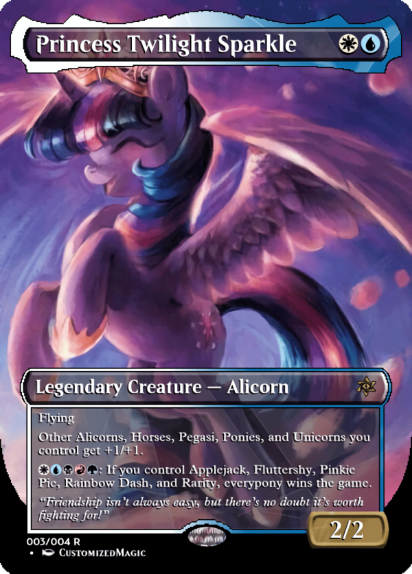 Princess Twilight Sparkle - Magic the Gathering Proxy Cards