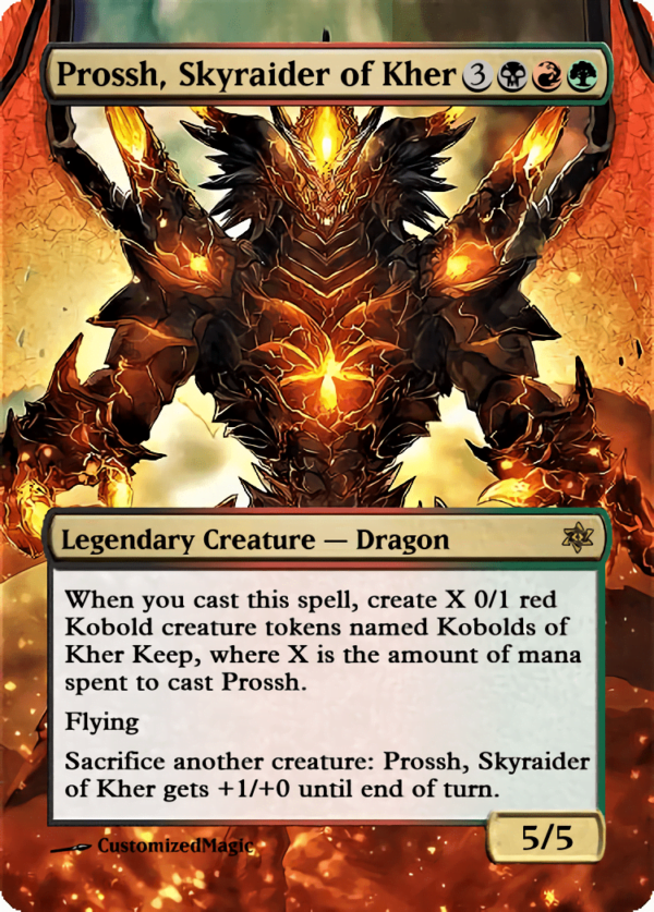 Prossh Skyraider of Kher - Magic the Gathering Proxy Cards