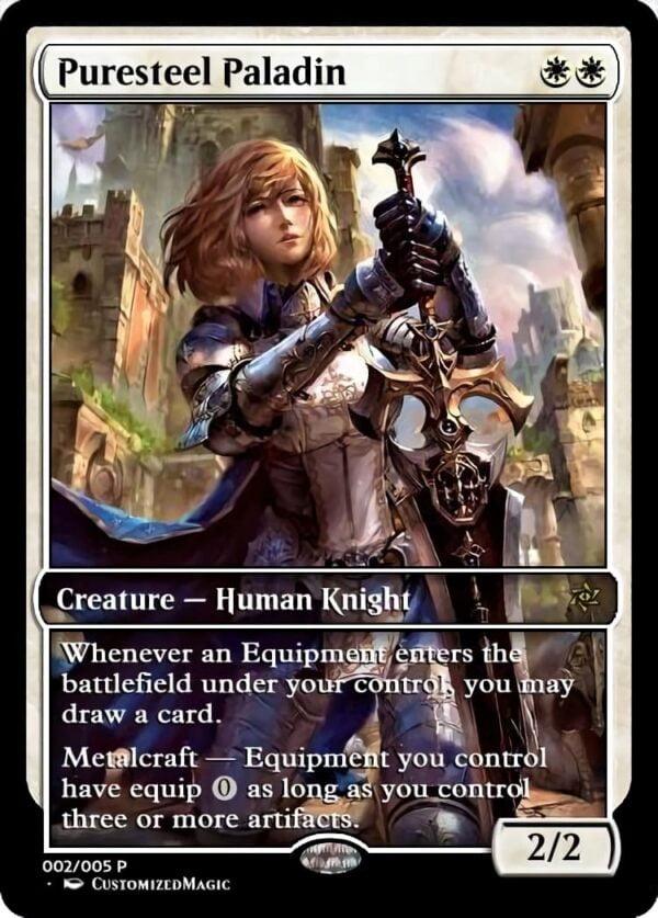 Puresteel Paladin.1 - Magic the Gathering Proxy Cards