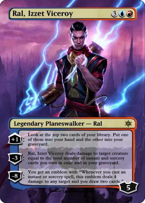 Ral Izzet Viceroy - Magic the Gathering Proxy Cards