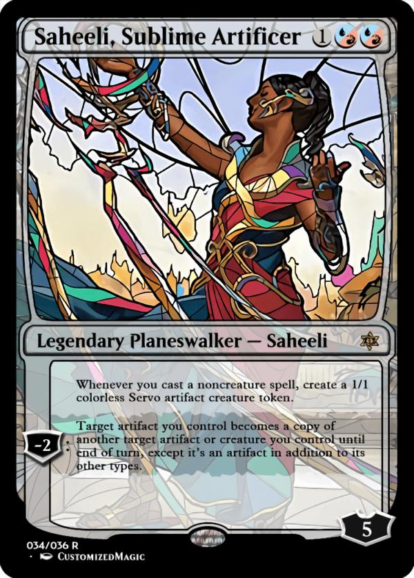 Saheeli Sublime Artificer 1 - Magic the Gathering Proxy Cards