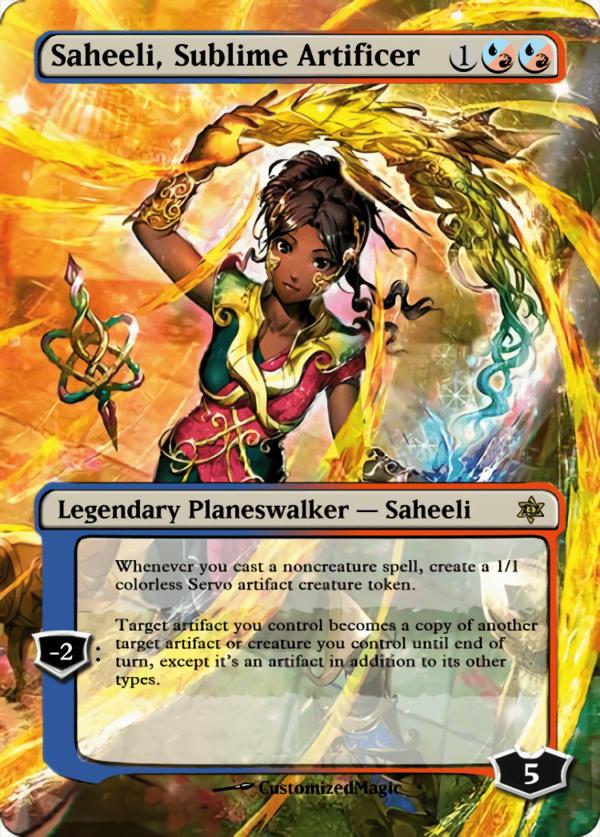 Saheeli Sublime Artificer - Magic the Gathering Proxy Cards