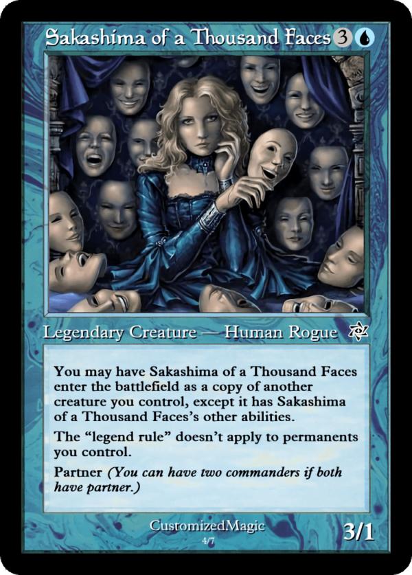 Sakashima of a Thousand Faces.4 - Magic the Gathering Proxy Cards