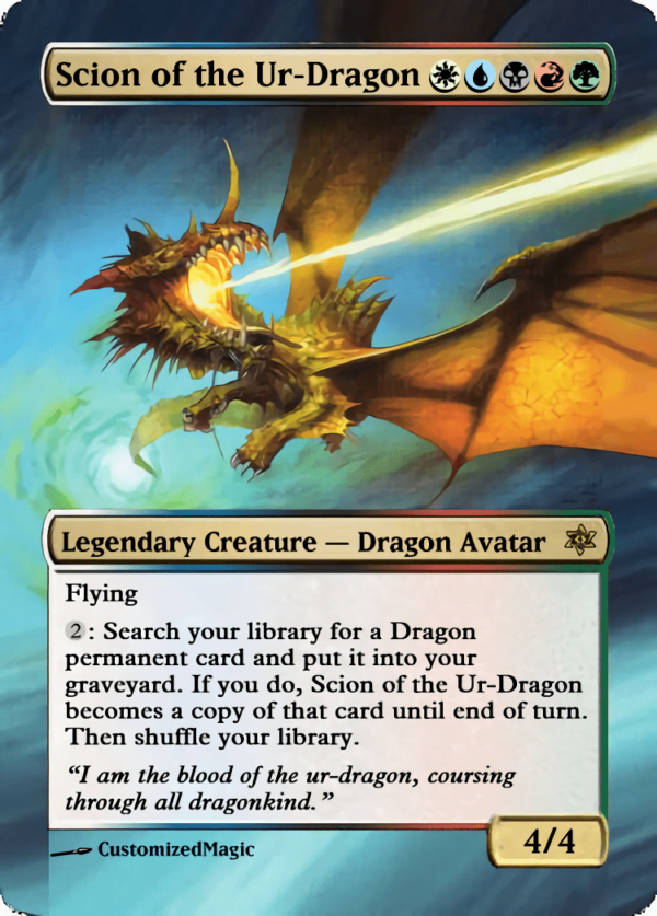 Scion of the Ur Dragon - Magic the Gathering Proxy Cards
