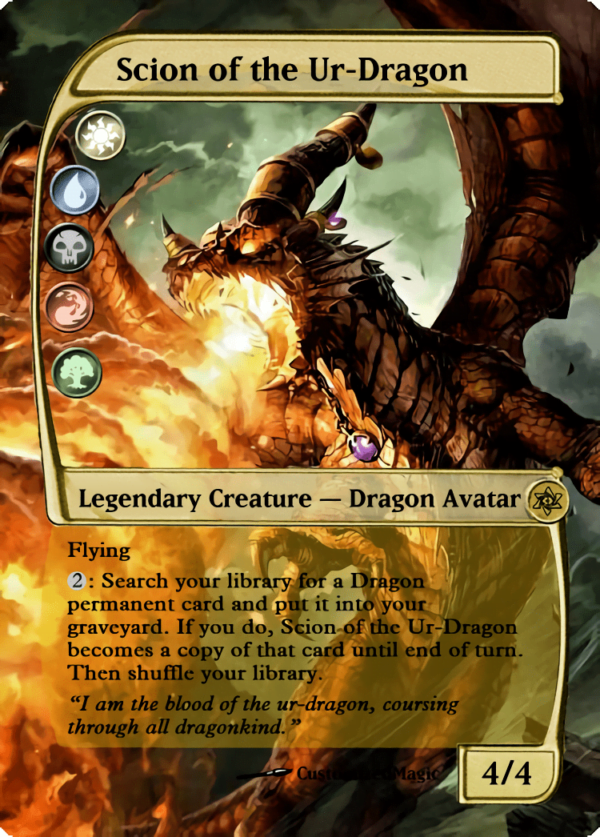 Scion of the Ur Dragon.4 - Magic the Gathering Proxy Cards