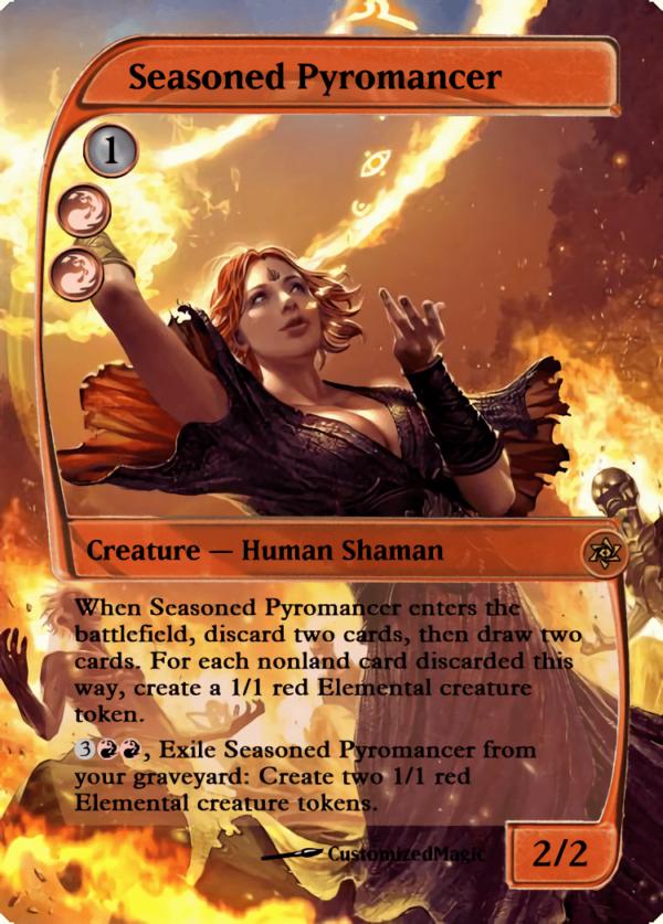 Seasoned Pyromancer.1 - Magic the Gathering Proxy Cards
