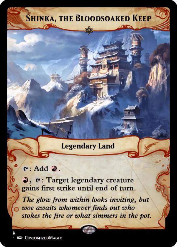 Shinka the Bloodsoaked Keep - Magic the Gathering Proxy Cards