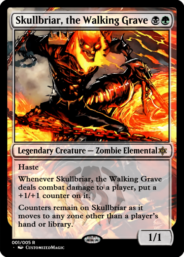Skullbriar the Walking Grave - Magic the Gathering Proxy Cards