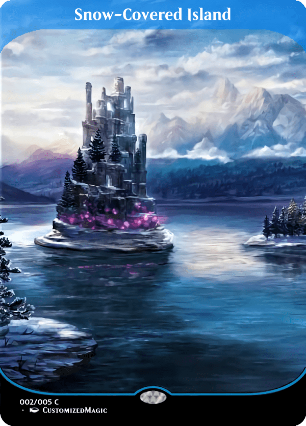 Snow Covered Island - Magic the Gathering Proxy Cards