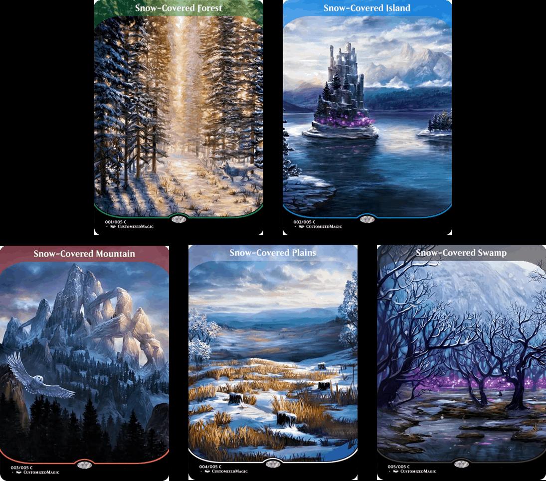 Snow-Covered Lands - Secret Lair Full-Art