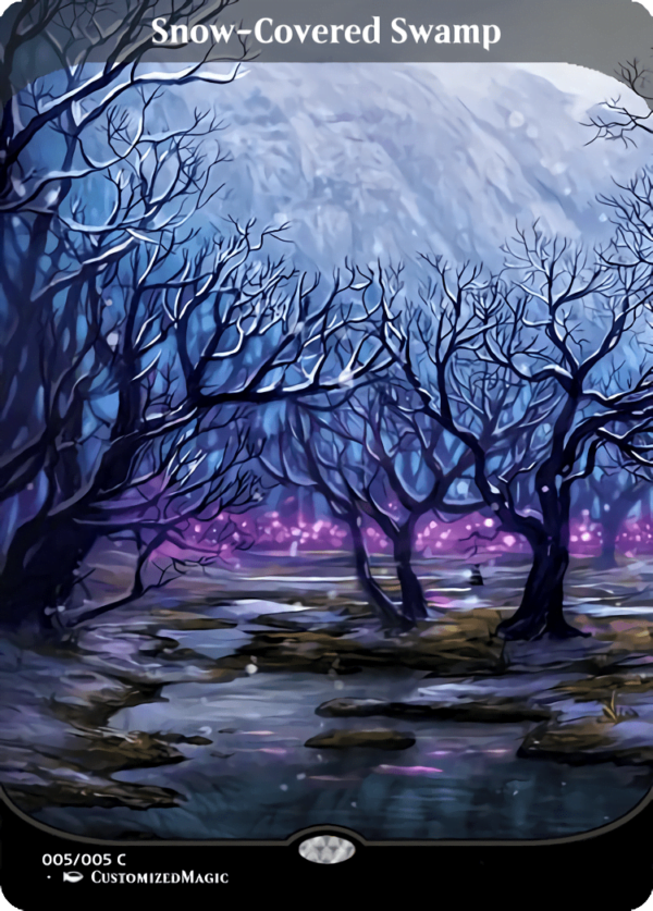 Snow Covered Swamp - Magic the Gathering Proxy Cards