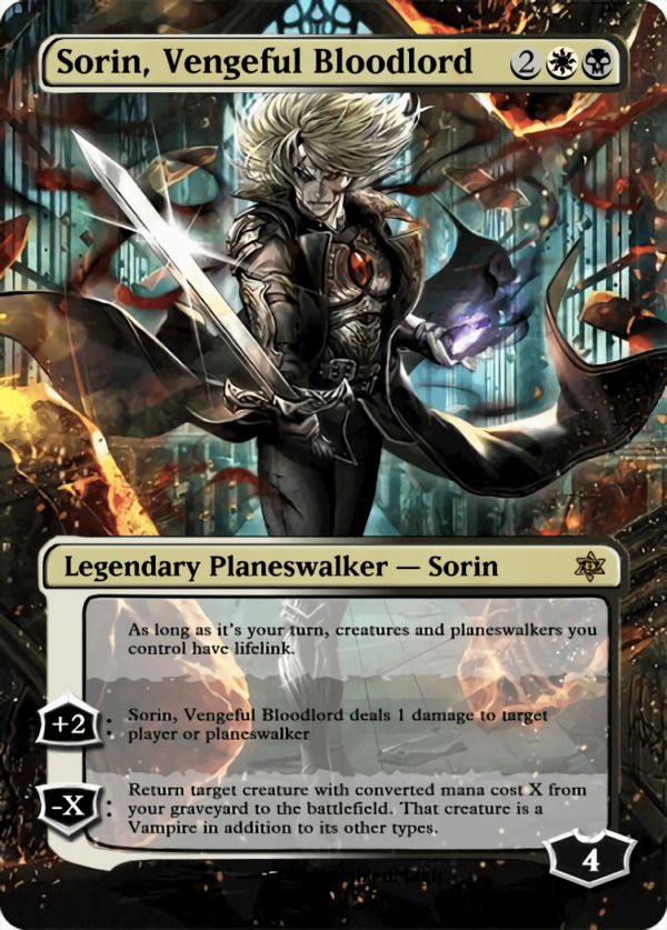 Sorin Vengeful Bloodlord - Magic the Gathering Proxy Cards
