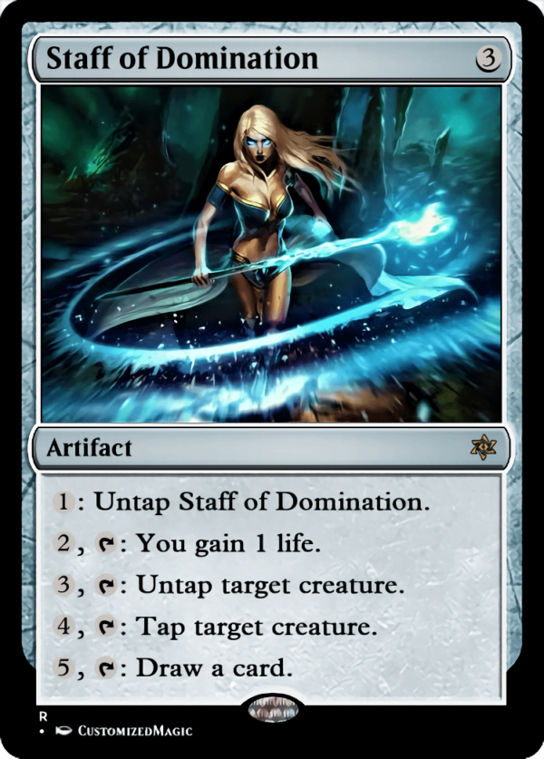 Staff of Domination.4 - Magic the Gathering Proxy Cards