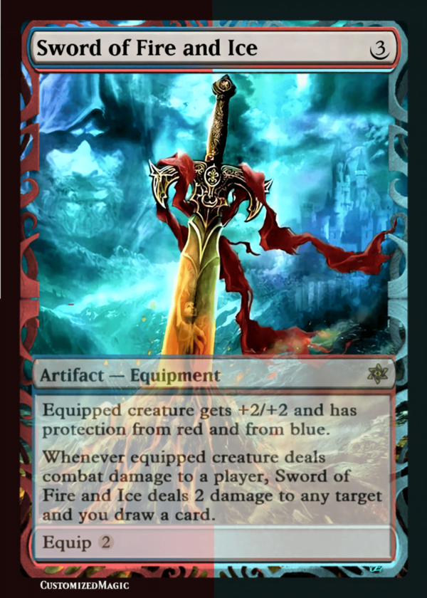 Sword of Fire and Ice - Magic the Gathering Proxy Cards