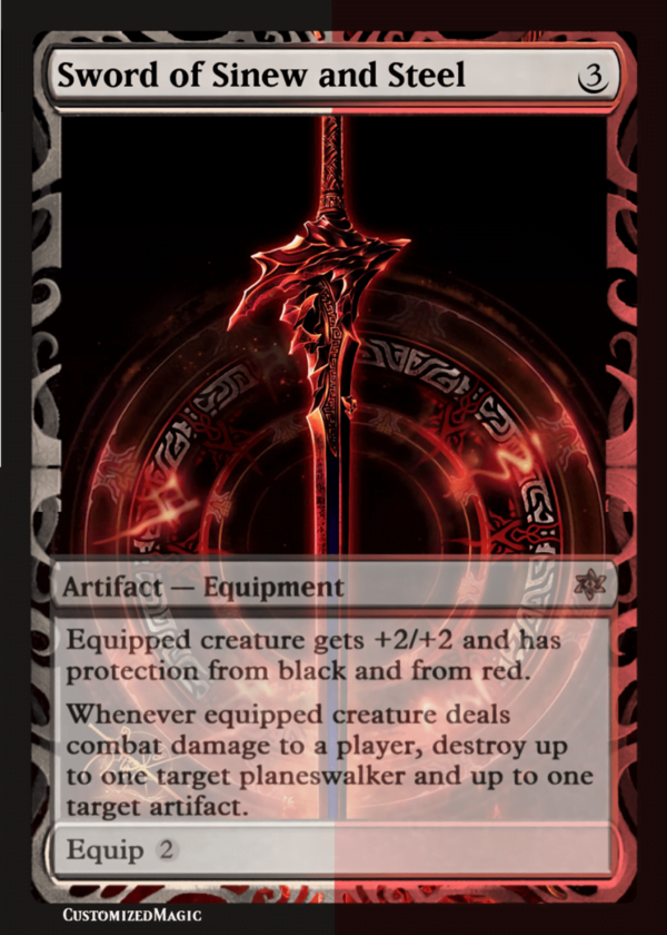 Sword of Sinew and Steel - Magic the Gathering Proxy Cards