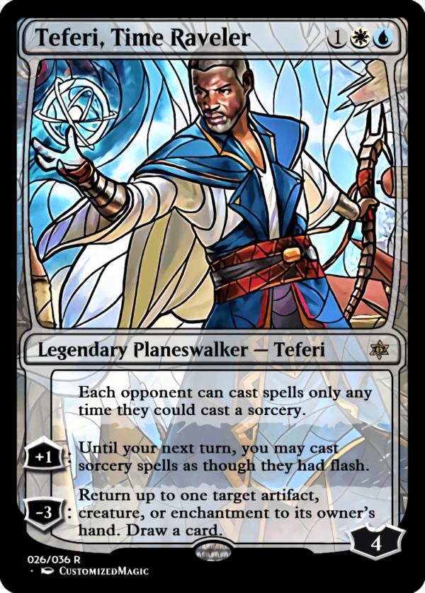 Teferi Time Raveler 1 - Magic the Gathering Proxy Cards