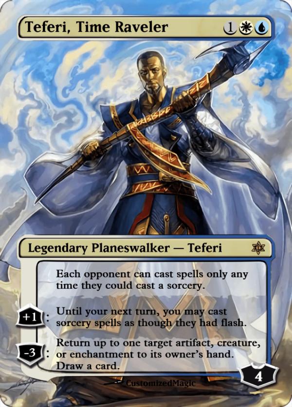 Teferi Time Raveler - Magic the Gathering Proxy Cards
