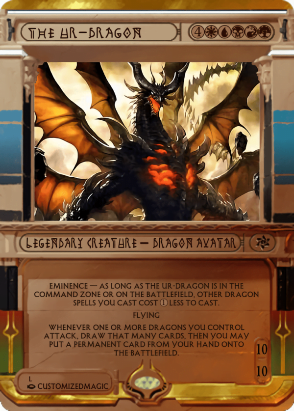 The Ur Dragon.4 - Magic the Gathering Proxy Cards