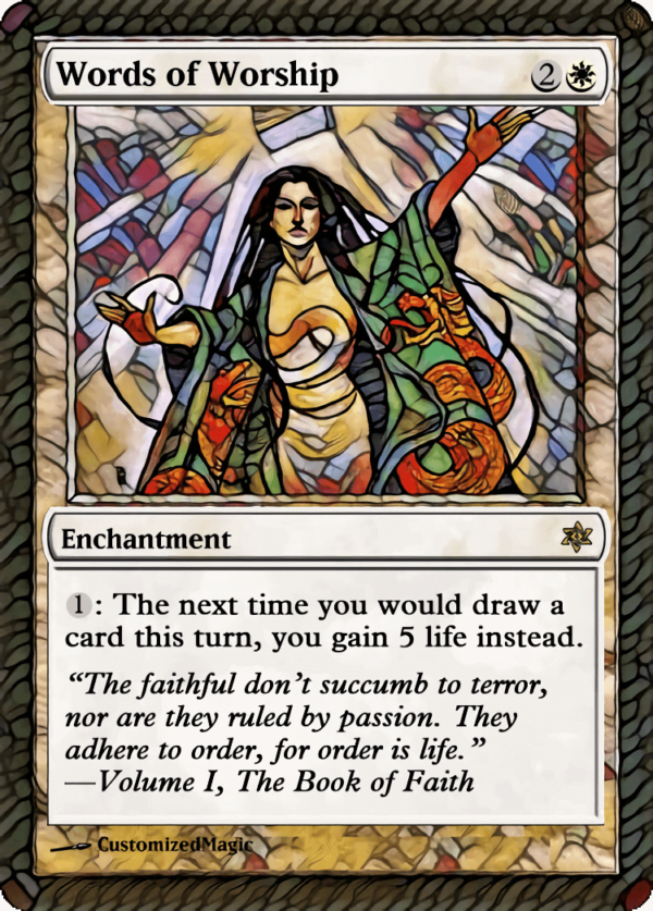 Words of Worship - Magic the Gathering Proxy Cards