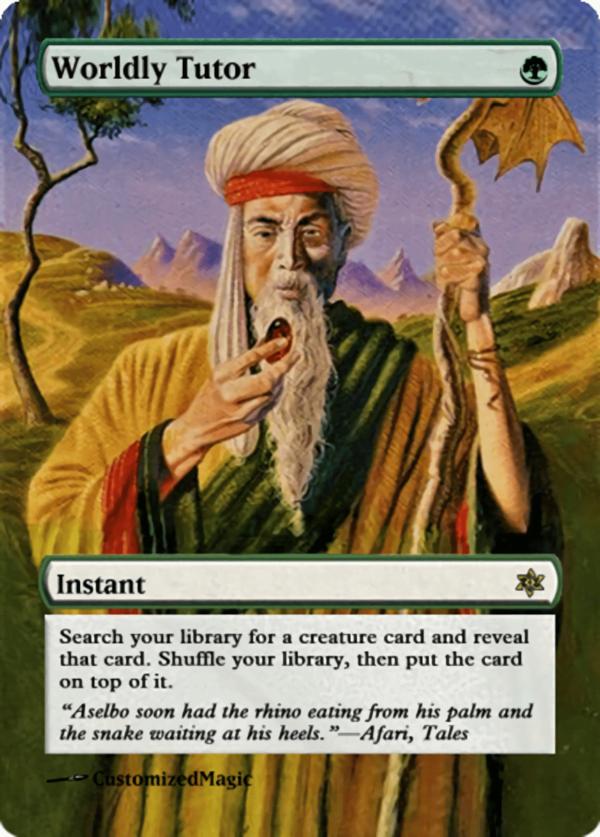 Worldly Tutor - Magic the Gathering Proxy Cards