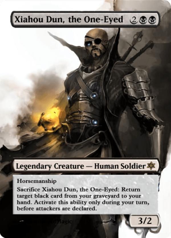 Xiahou Dun the One Eyed.11 - Magic the Gathering Proxy Cards