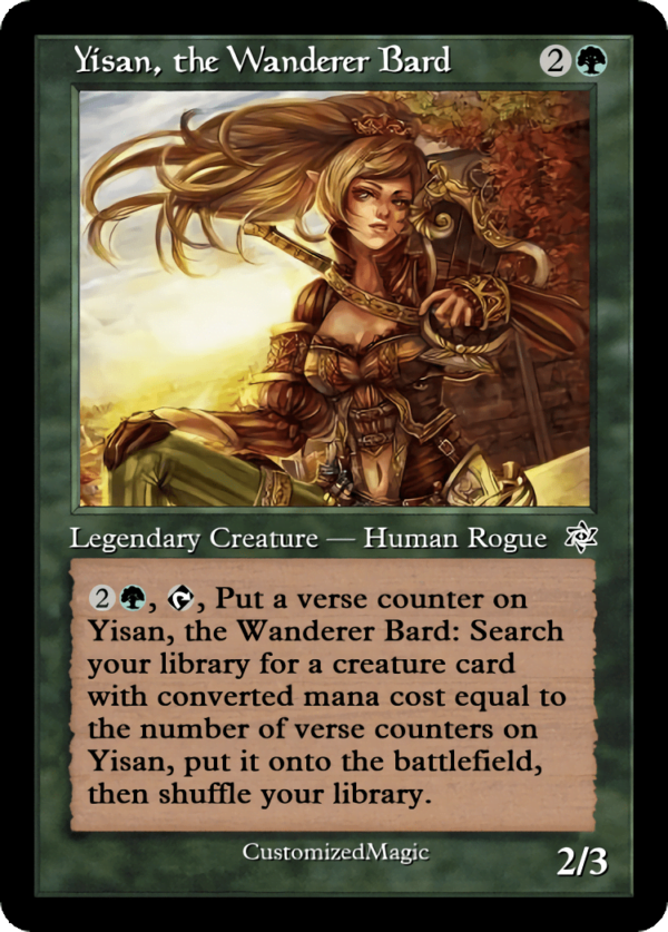 Yisan the Wanderer Bard.2 - Magic the Gathering Proxy Cards