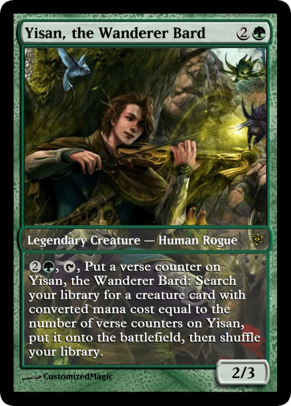 Yisan the Wanderer Bard.4 - Magic the Gathering Proxy Cards