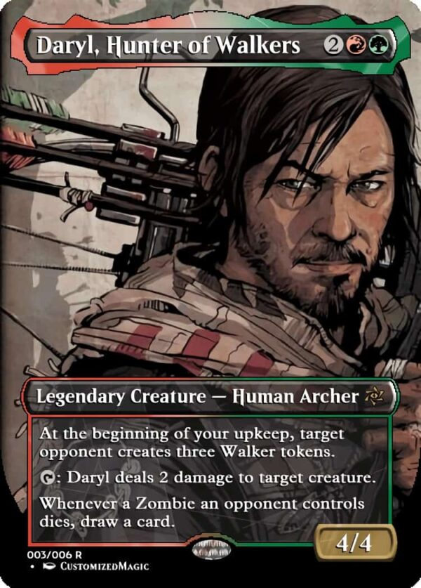 Daryl Hunter of Walkers - Magic the Gathering Proxy Cards