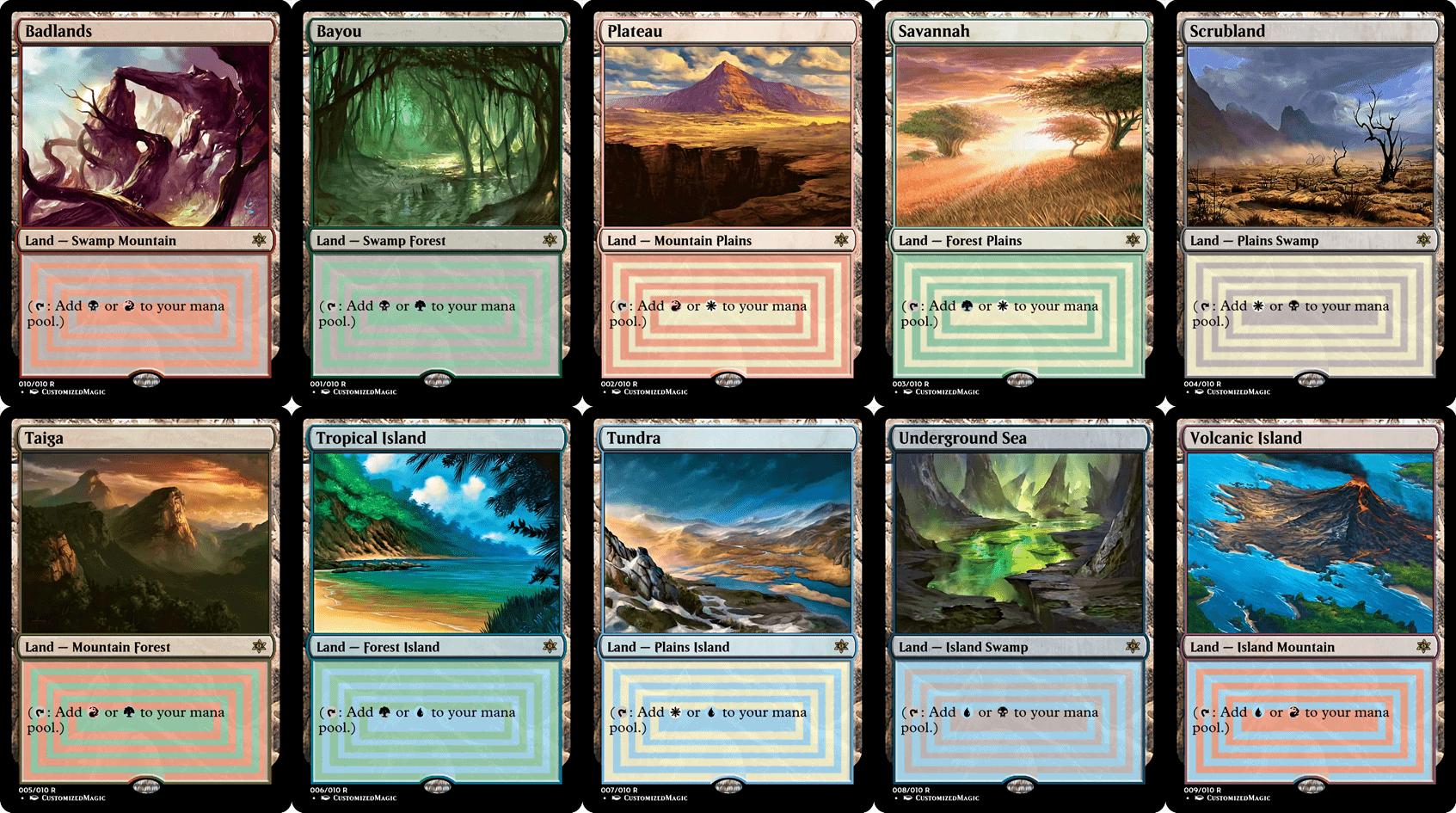 Dual Lands - Old Frame