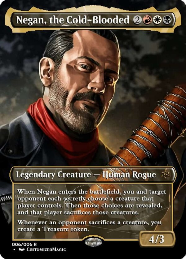 Negan the Cold Blooded - Magic the Gathering Proxy Cards