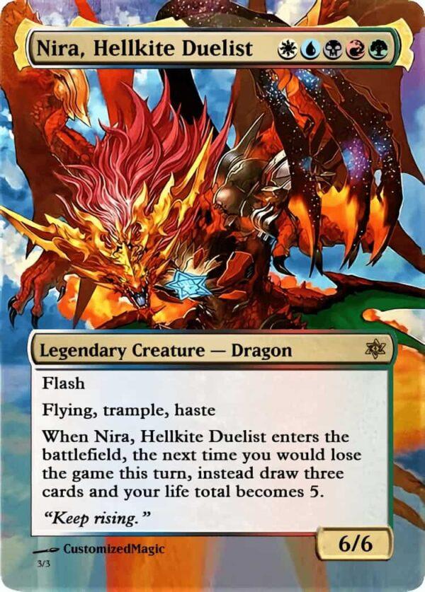 Nira Hellkite Duelist - Magic the Gathering Proxy Cards