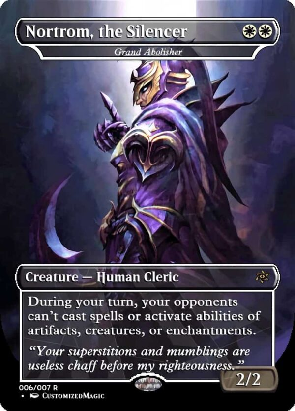 Nortrom the Silence - Magic the Gathering Proxy Cards