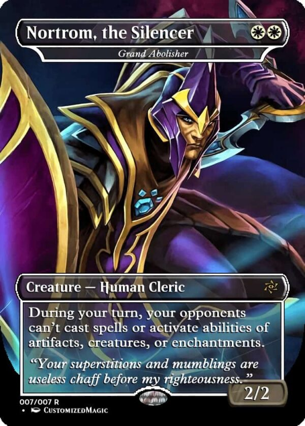 Nortrom the Silencer 2 - Magic the Gathering Proxy Cards