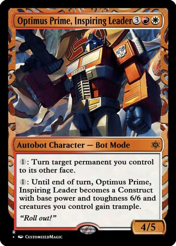 Optimus Prime Inspiring Leader - Magic the Gathering Proxy Cards