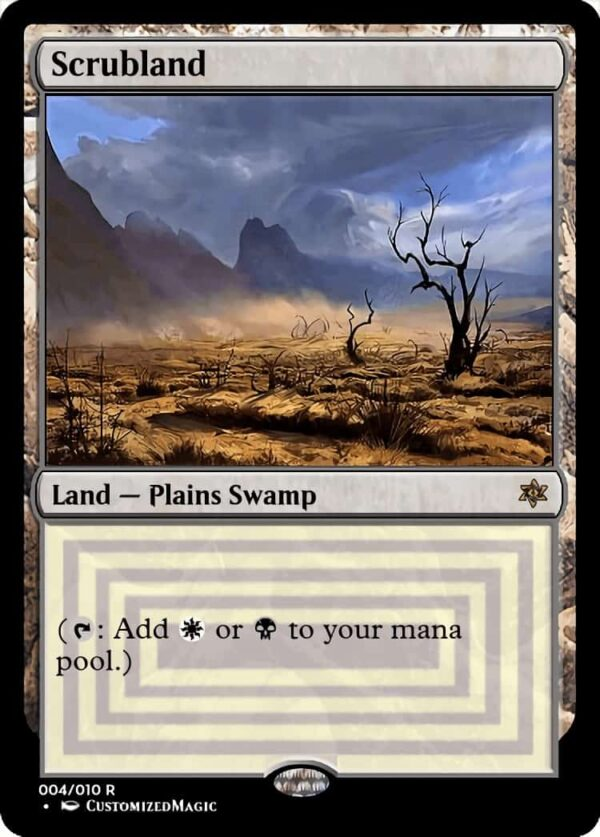 Scrubland - Magic the Gathering Proxy Cards