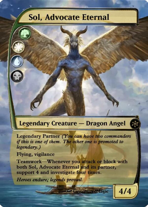 Sol Advocate Eternal 1 - Magic the Gathering Proxy Cards