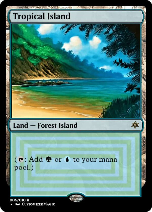 Tropical Island - Magic the Gathering Proxy Cards